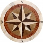 Round Hardwood Floor Medallion Inlay